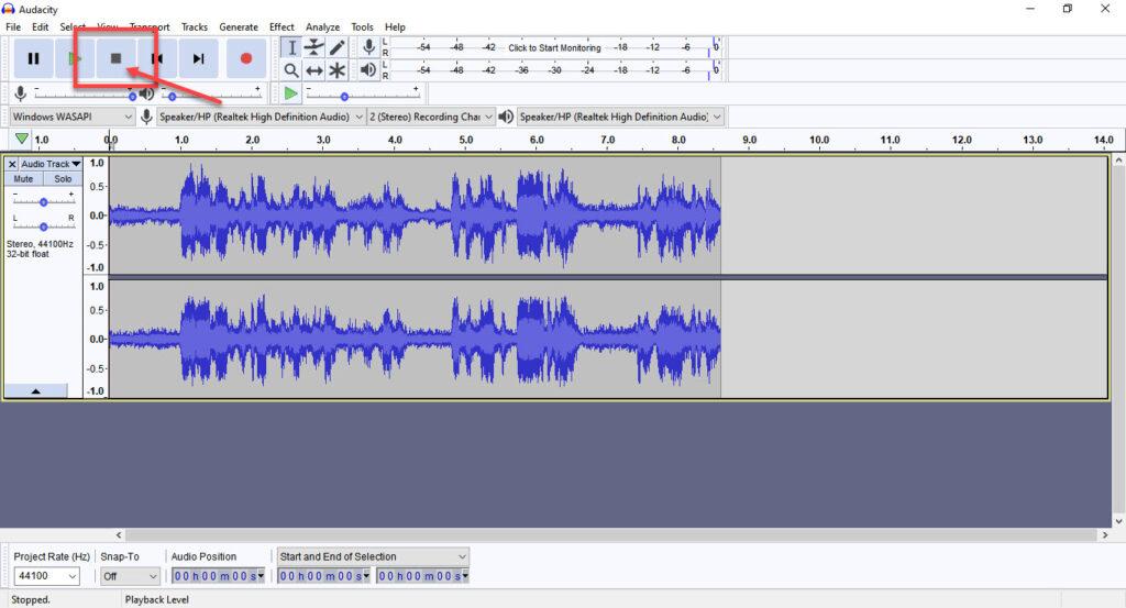 How to record desktop audio using Audacity?
