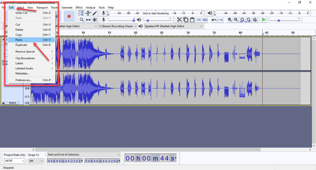 How to Cut and Move audio in Audacity?   Candid.Technology