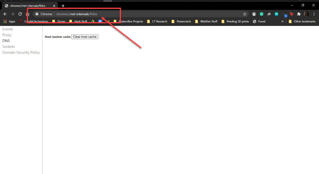 "How to fix ""ERR_ADDRESS_UNREACHABLE"" in Google Chrome?"