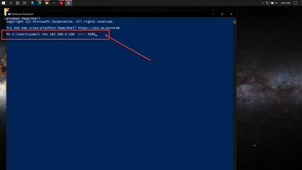 How to open the RDP Port to allow Remote Desktop Access?