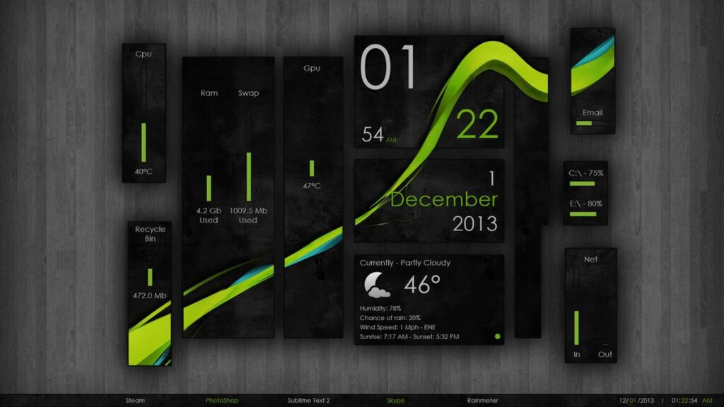 Top 11 Rainmeter skins | Candid.Technology