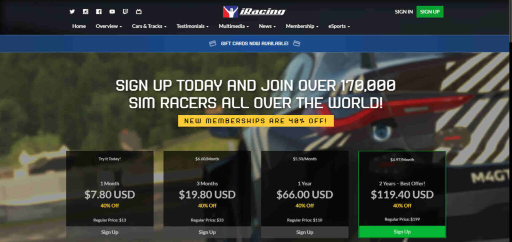 How much does iRacing cost? What do you need to play the Sim?