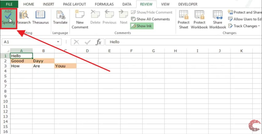 How to Spell Check in Excel?   Candid.Technology