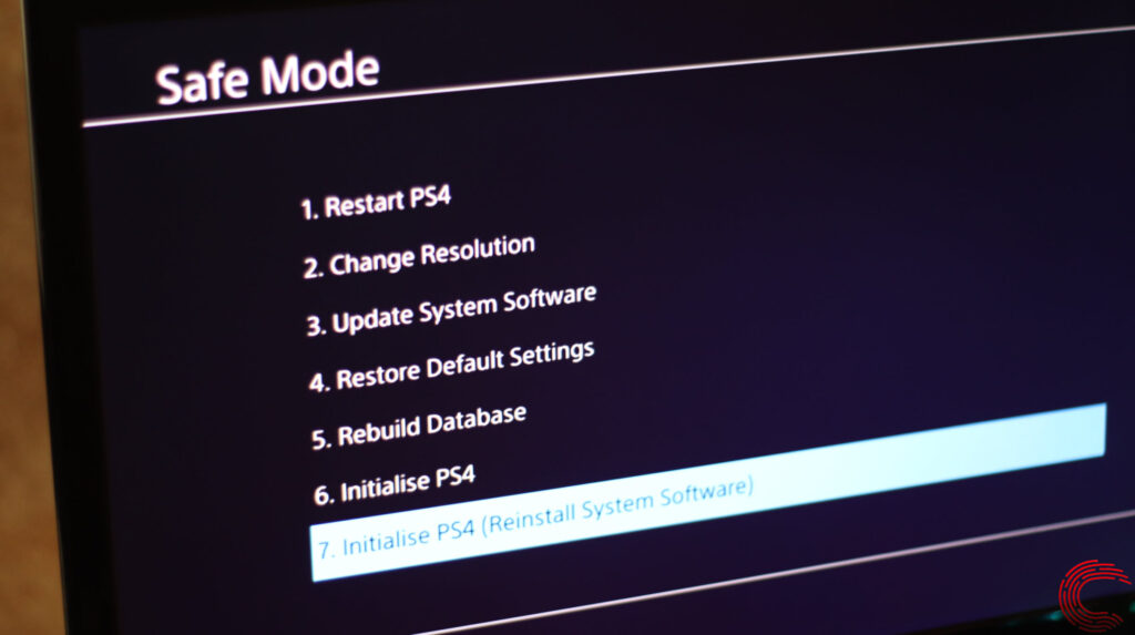 How to start PS4 in Safe Mode and how to get it out of it?