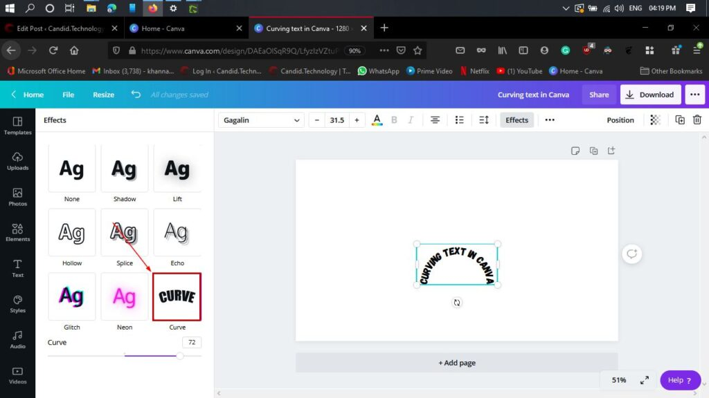 How to curve text in Canva? | Candid.Technology