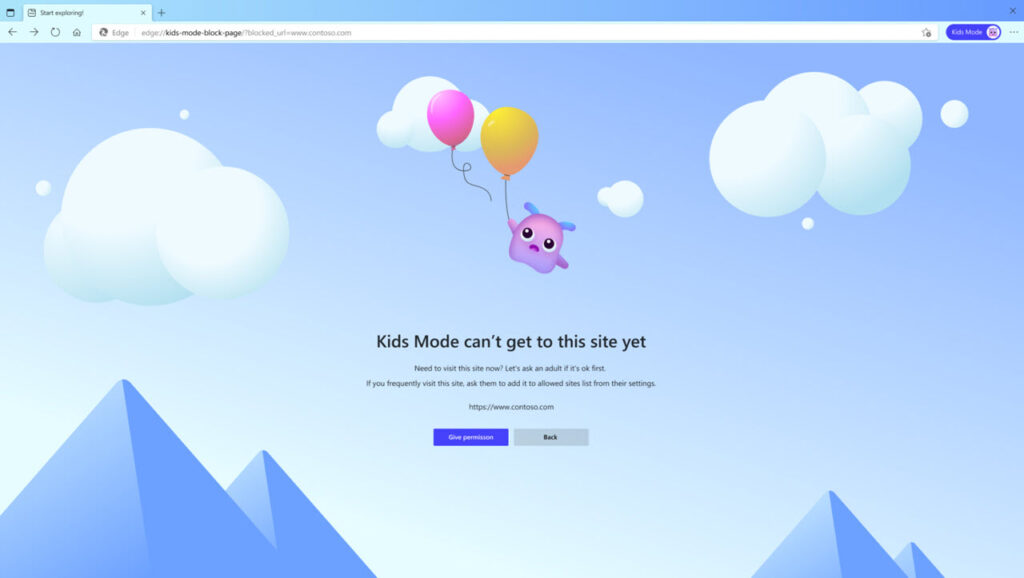 Microsoft introduces Kids mode for Edge