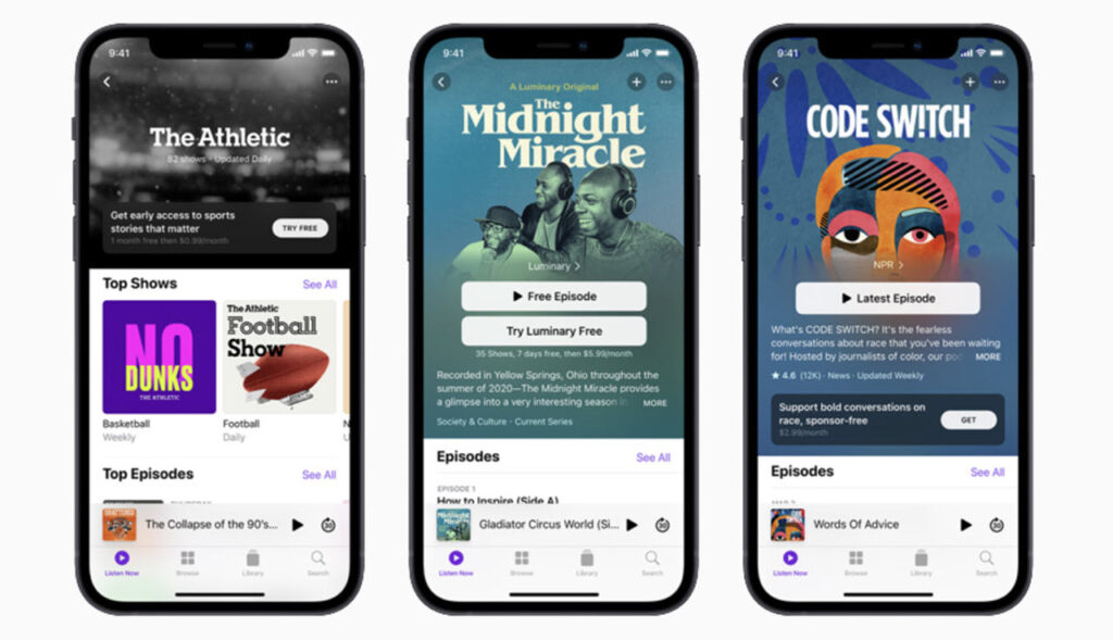 Apple Podcast Subscriptions offer ad-free and exclusive content