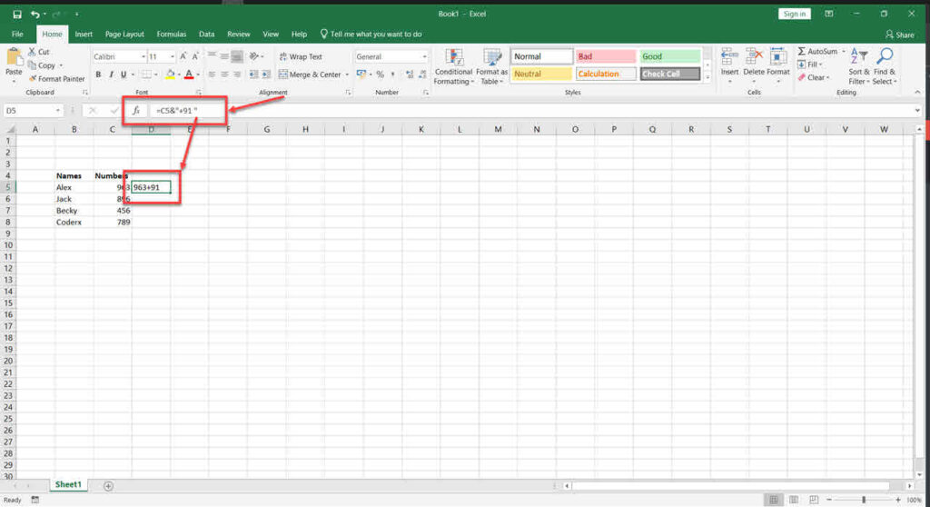 How to add prefix and suffix in Excel? | Candid.Technology