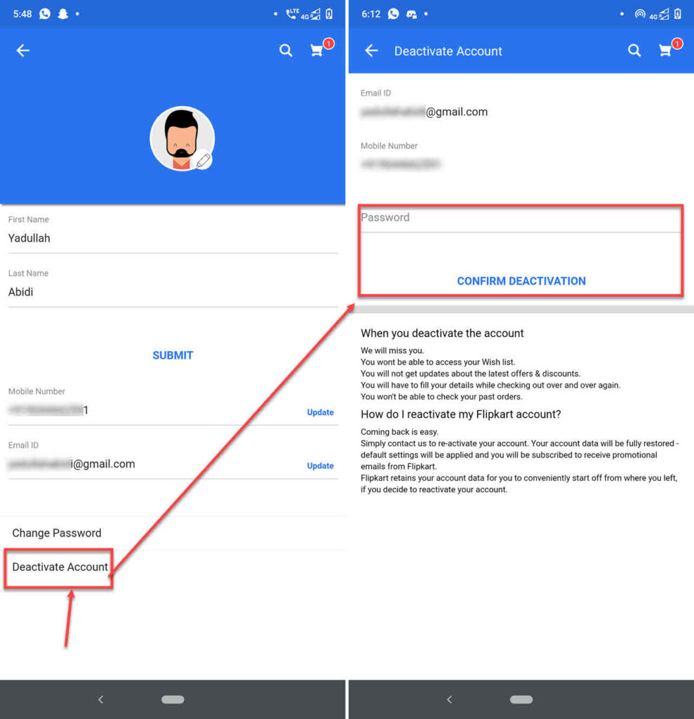 How to delete Flipkart account?   Candid.Technology