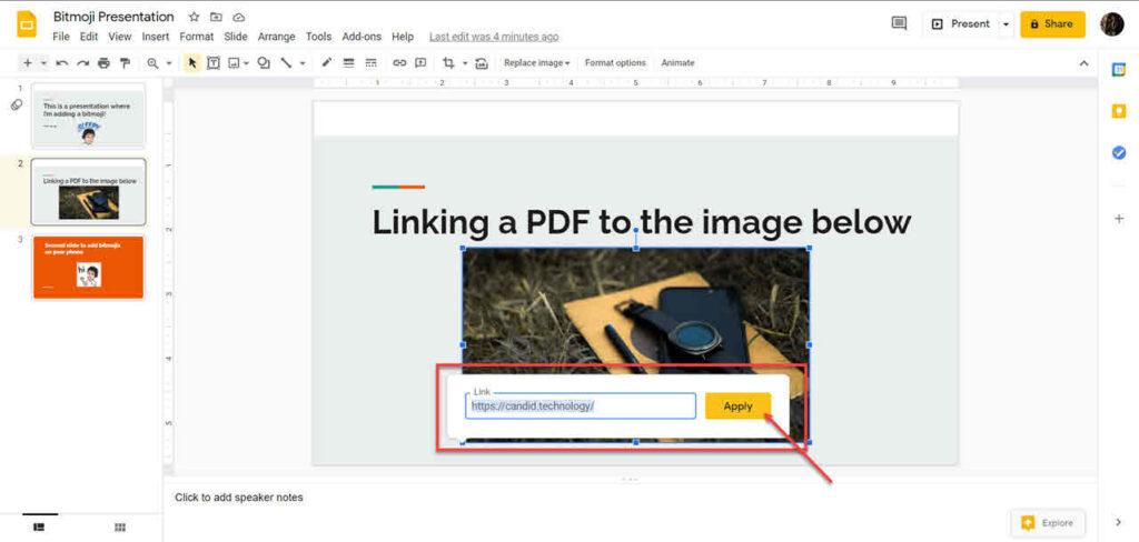 How to insert PDF in Google Slides?
