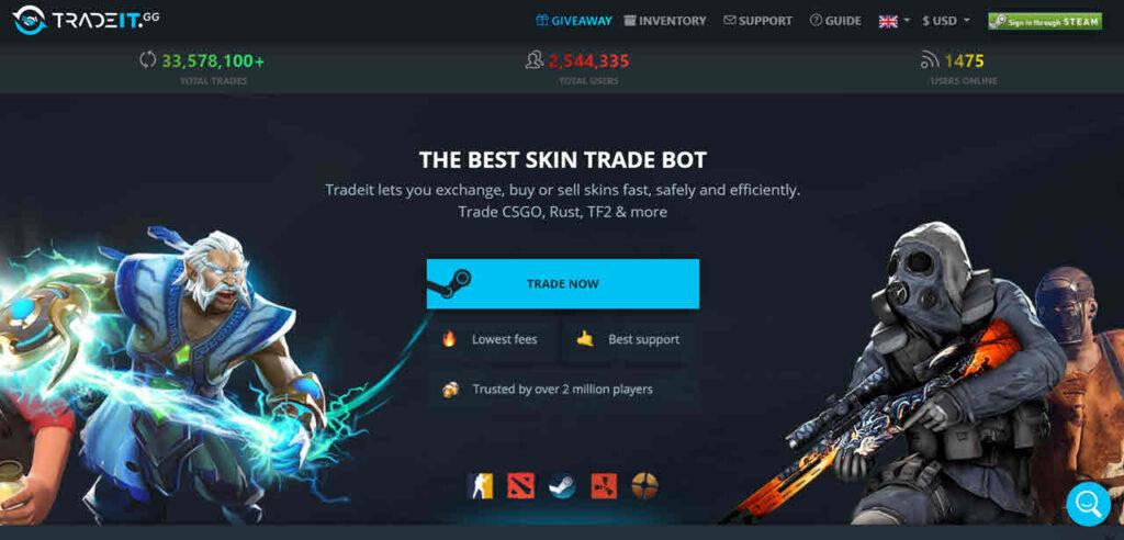 Top 7 CSGO skin trading websites