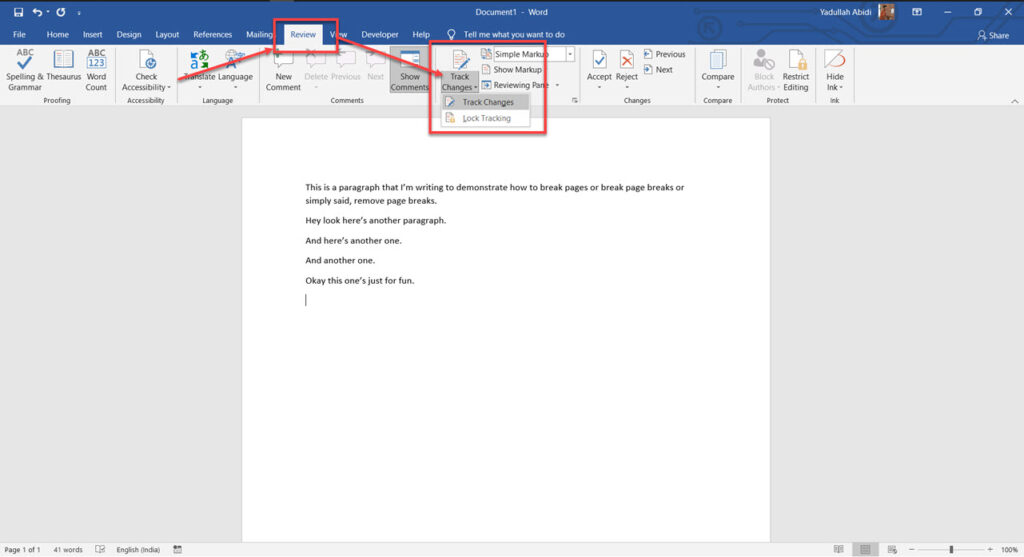 How to remove a page break in Word?
