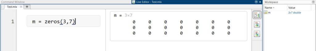 How to make and transpose a Matrix in MATLAB?