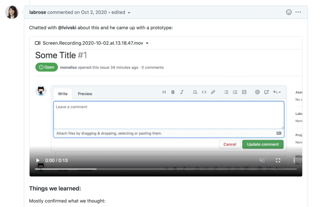 Github video upload feature is now available to all users