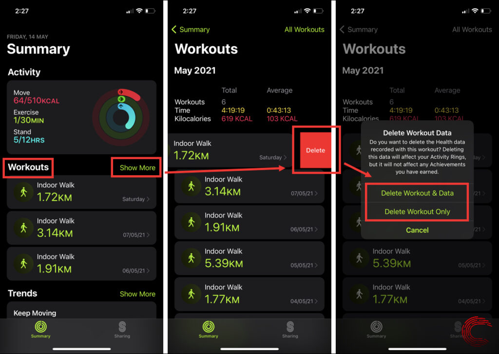 How to delete a workout on Apple Watch? | Candid.Technology