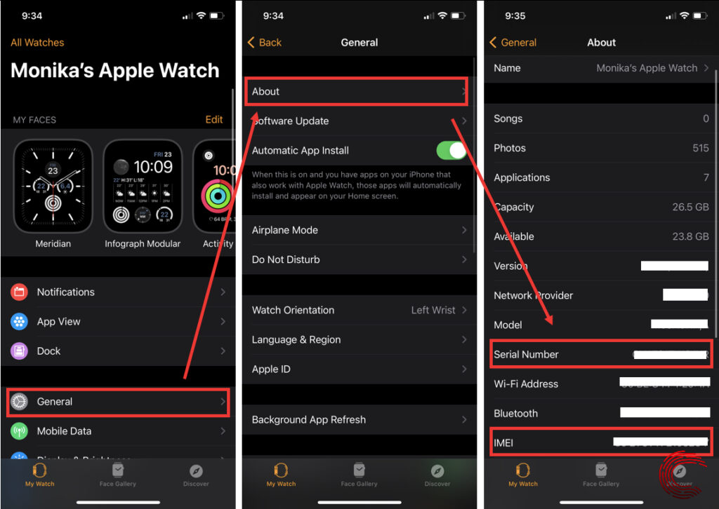 How to find serial number on Apple Watch?   Candid.Technology