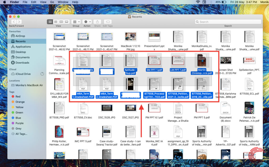 How to select multiple files on Mac? | Candid.Technology