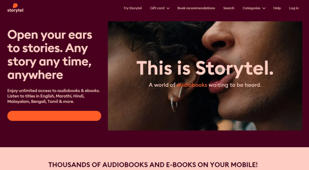 Spotify partners with Storytel to integrate its audiobooks later this year