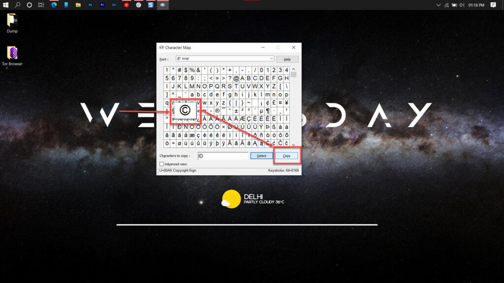 How to type a copyright symbol? | Candid.Technology