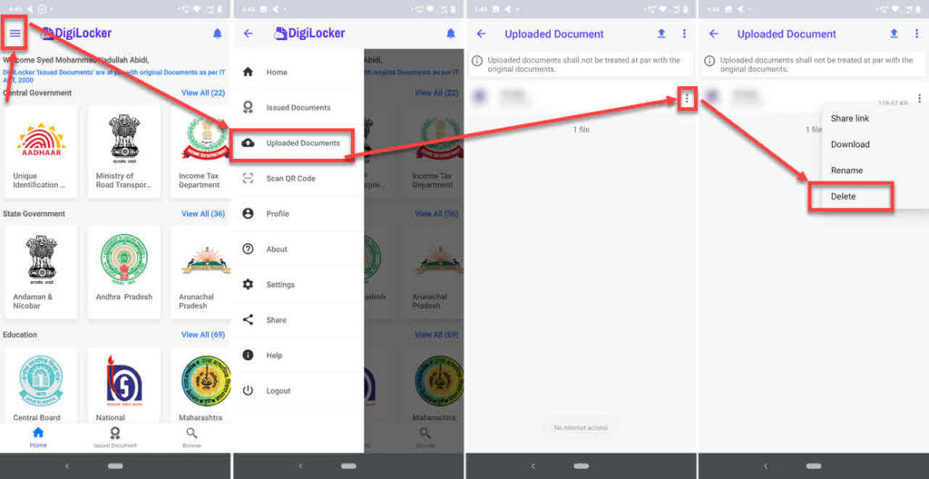 How to delete DigiLocker account?   Candid.Technology