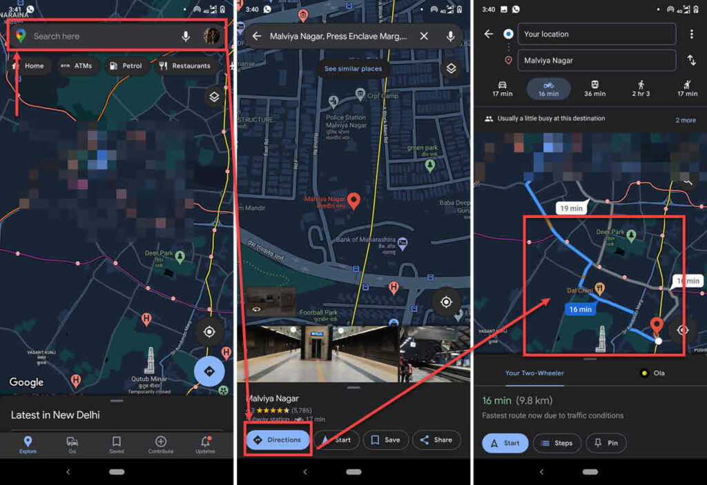How to check traffic to work on Google Maps? | Candid.Technology