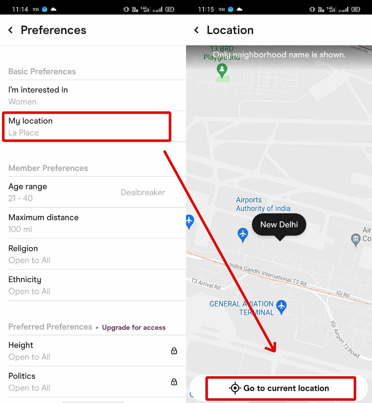 How to change location on Hinge? | Candid.Technology