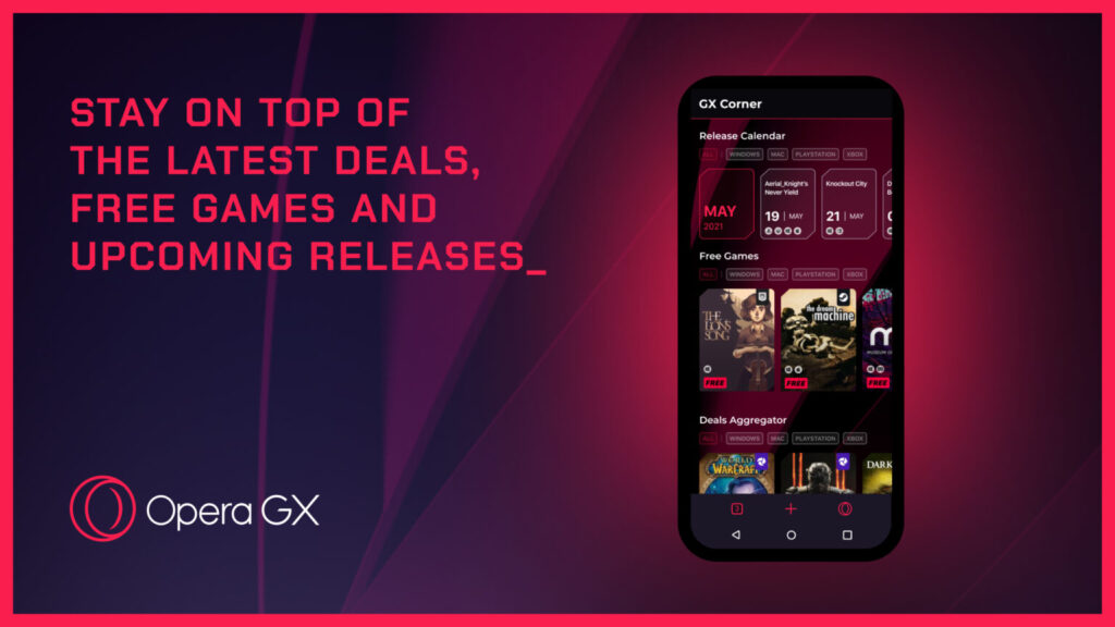 Opera GX browser comes to gamers on Android and iOS