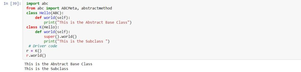 What is an Abstract class in Python? | Candid.Technology