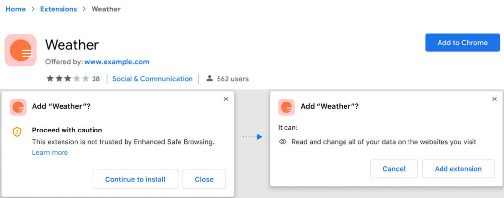 Chrome brings safety score for extensions and improved download protection
