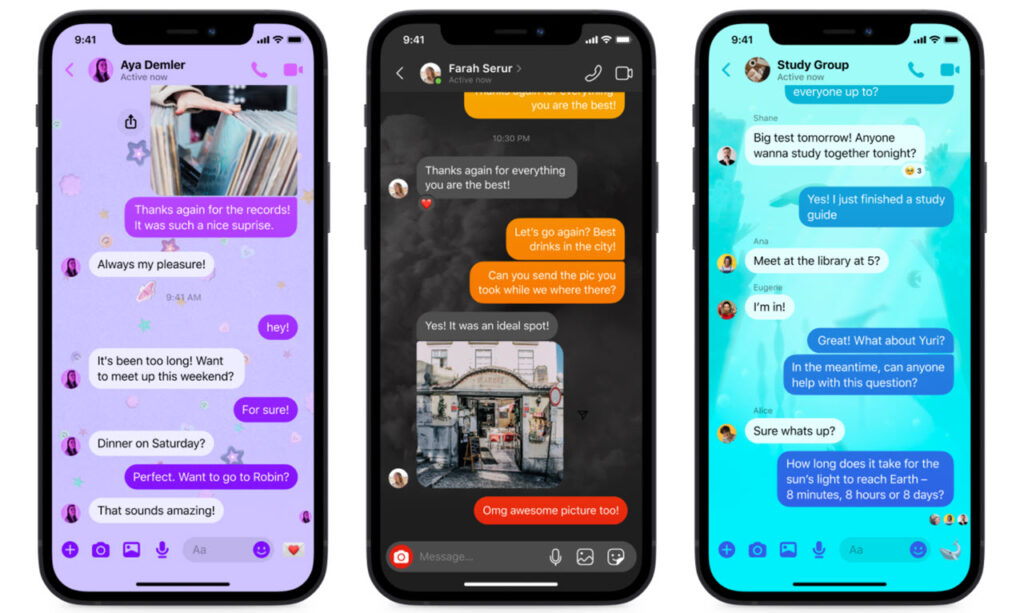 Facebook brings a quick reply bar, new themes and more to Messenger
