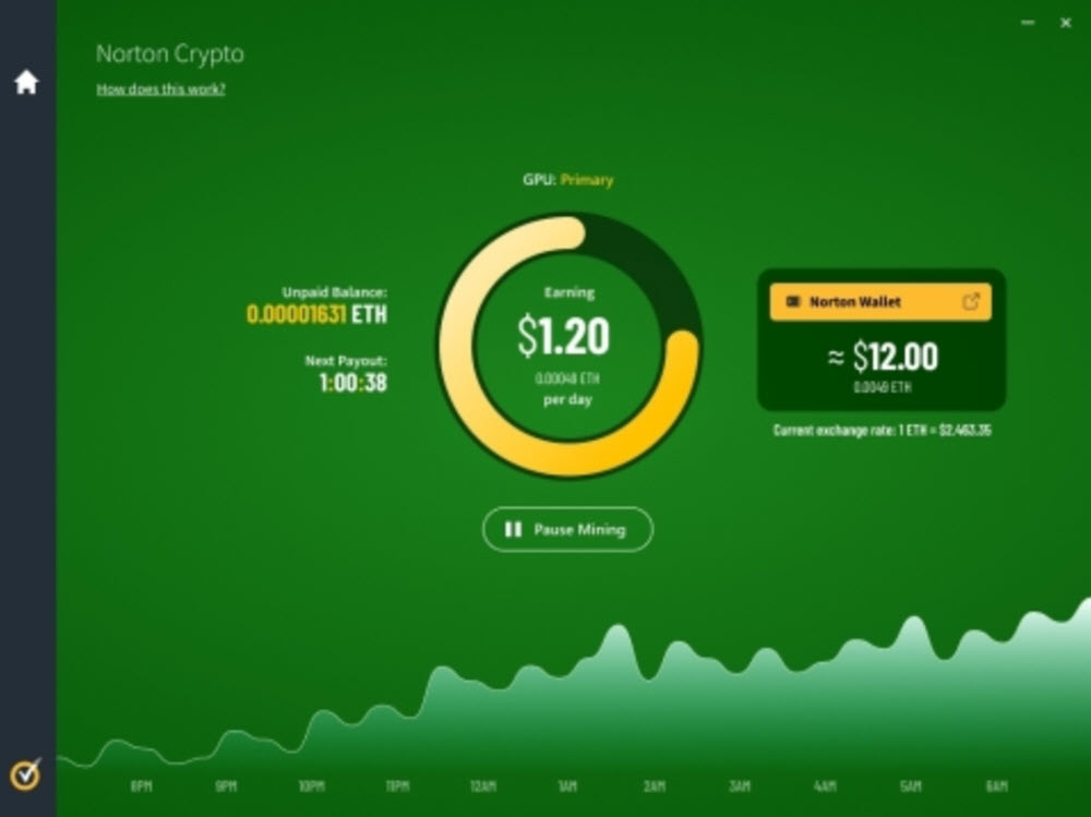 Norton adds Ethereum-mining feature to Norton 360 subscription