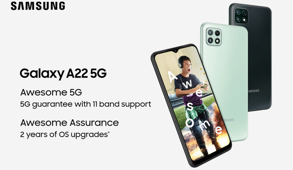 Samsung unveils Galaxy A22 5G launched in India: Price and Specs