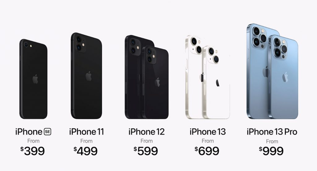 Apple announces 4 iPhone 13 variants starting at $699