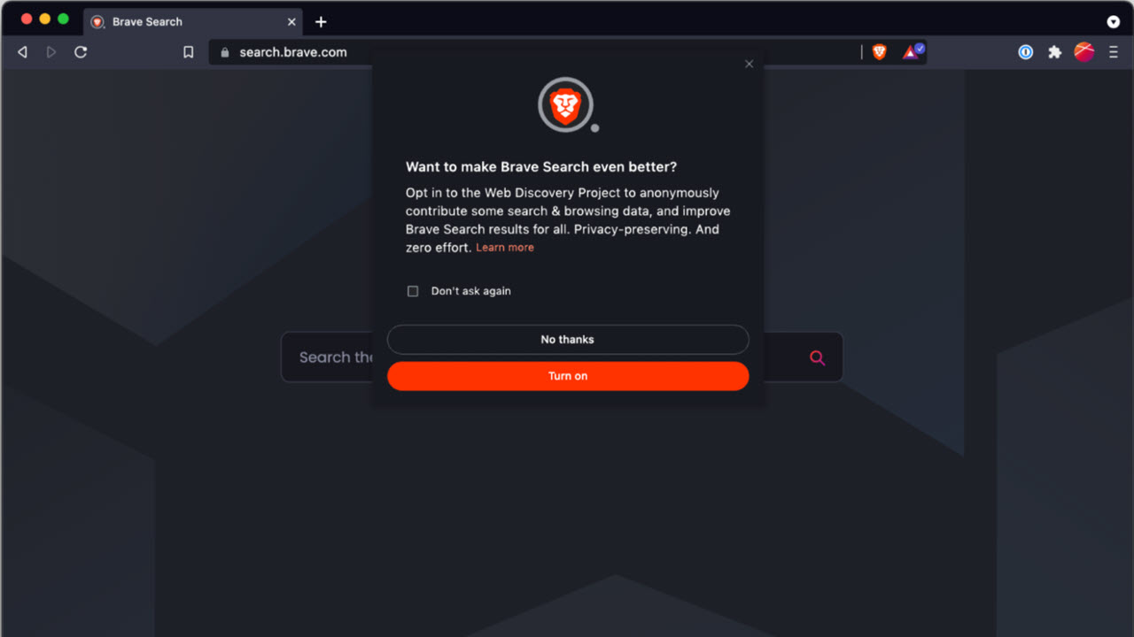 Brave browser launches a search engine; replaces Google as default