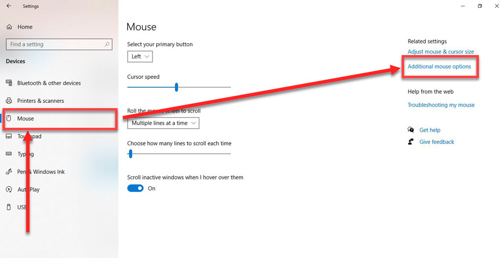 How to turn off mouse acceleration in Windows 10?